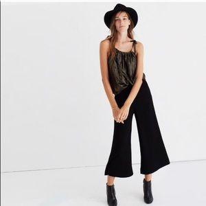 Madewell Sz 0 Gramercy Wide Leg Crop Pants Black